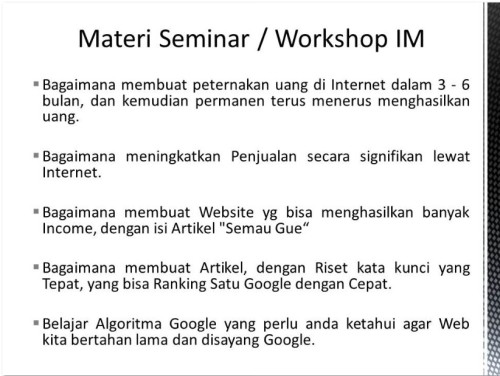 Pembicara Internet Marketing untuk Kampus & Universitas