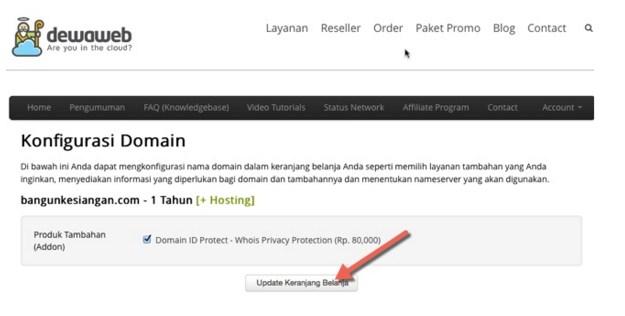 tutorial sewa hosting di dewaweb