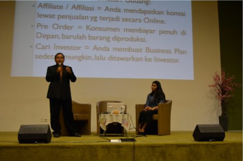 Pembicara Internet Marketing di Kampus Universitas Mercu Buana Jakarta