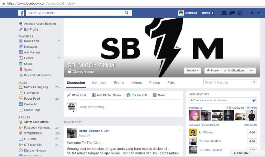 Grup Facebook SB1M Club Official Hub 0813-8154-6943