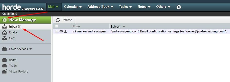 cara membuat email dengan web sendiri