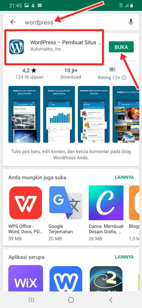 Cara Install WordPress ke HP Android
